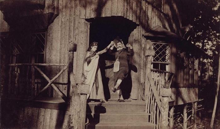 Марк Твен с дочерью, 1890 год