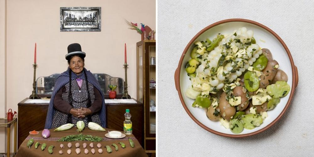 Боливия. Блюдо: суп из овощей и сыра.