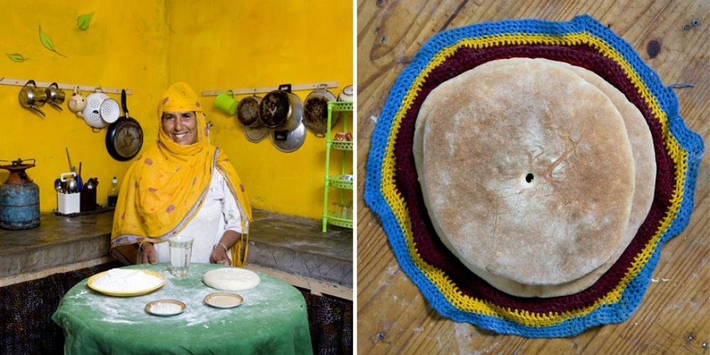 Марокко. Блюдо: бат-бот (берберский хлеб, испеченный на сковороде).