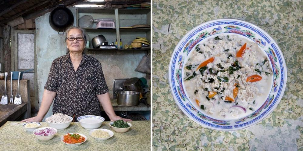 Филиппины. Блюдо: кинунот (мясо акулы в кокосовом супе).