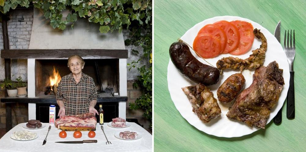 Аргентина. Блюдо: мясное барбекю.
