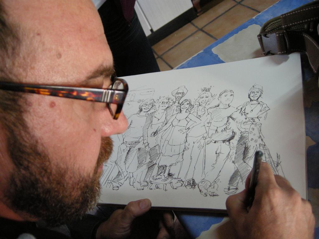 Julio caricaturizando...un crack