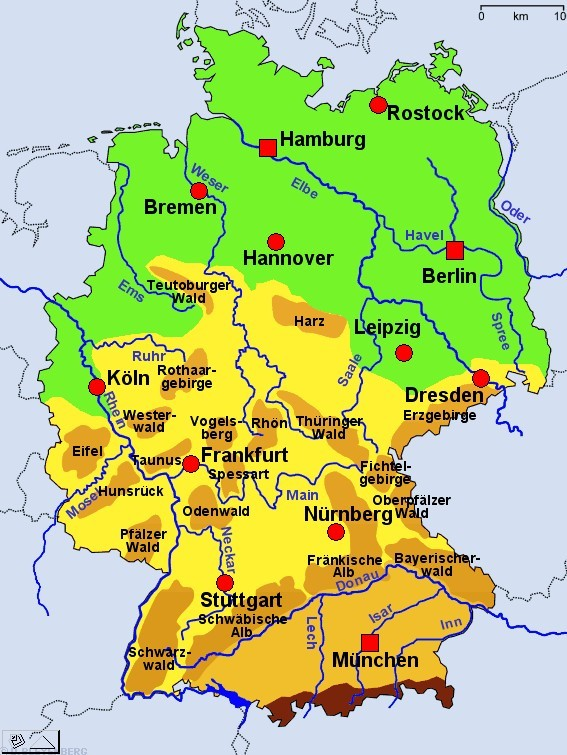 Deutschland Karte Bundeslander Gebirge لم يسبق له مثيل الصور