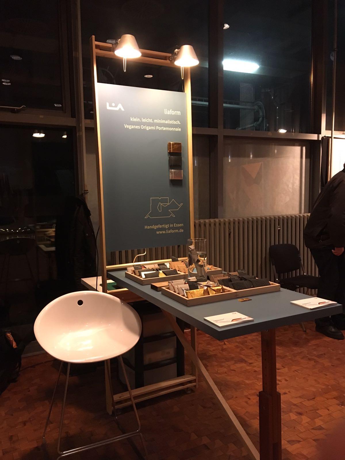 Messestand auf der Designmesse HANDVERLESEN auf Zeche Zollverein
