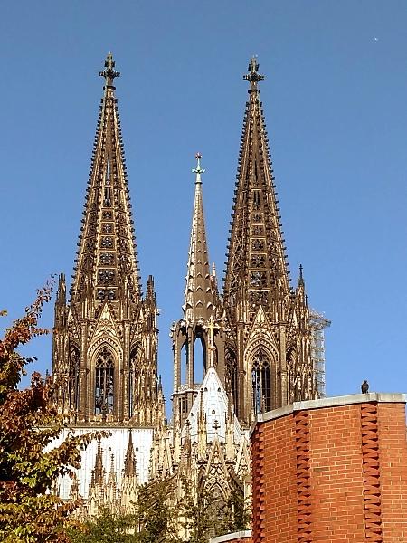 Blick auf die Domspitzen, Köln