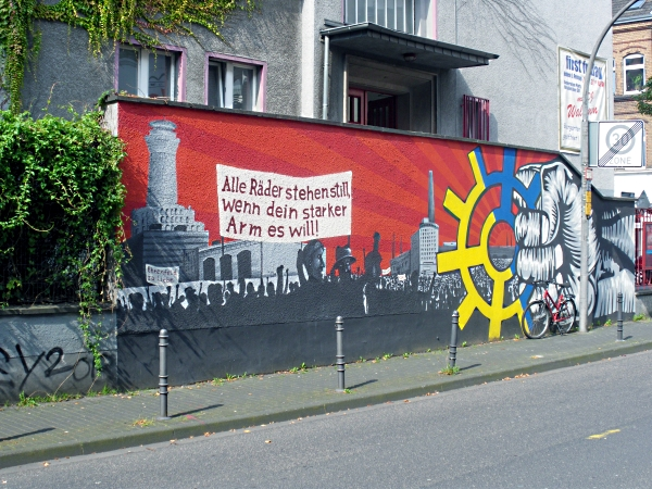 Mauer am Bürgerzentrum Ehrenfeld