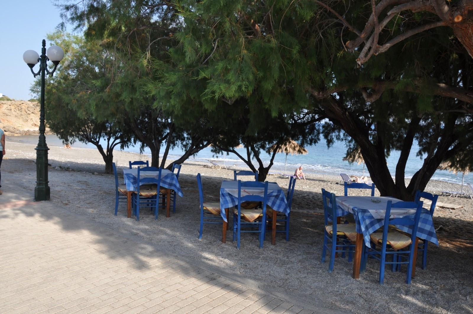 Taverne direkt am Strand