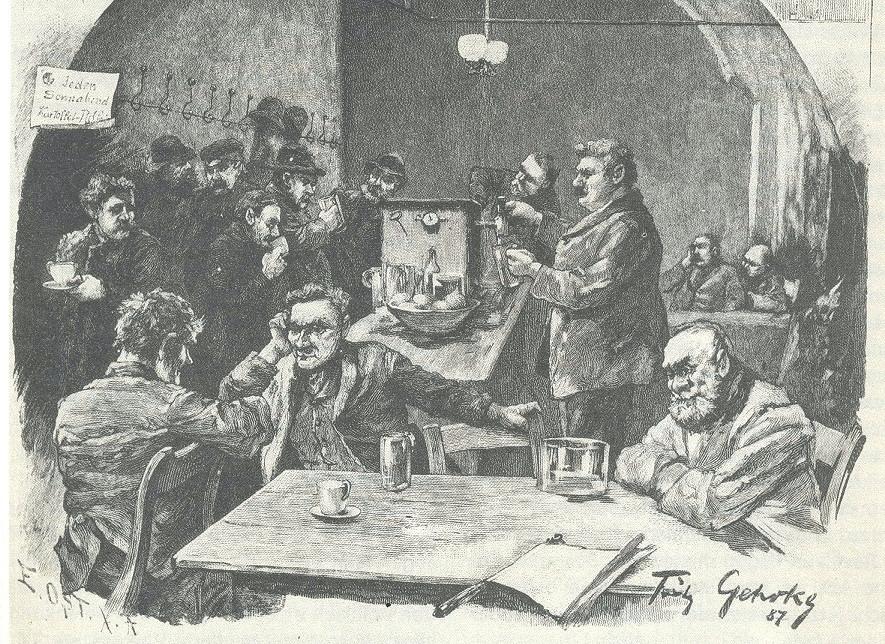"""""""In der Katschemme"""" Berlin 1887 - einer der ersten nachgewiesenen CO2 Ausschänke"""