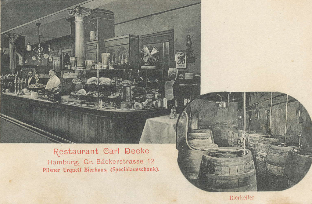 Carl Deeke - Bäckerstr. Hamburg um 1900 - Co2 Aufbau