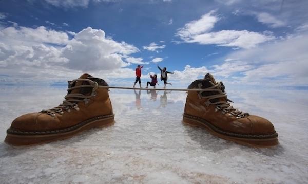 南米縦断旅行 ボリビア・ウユニ塩湖にて