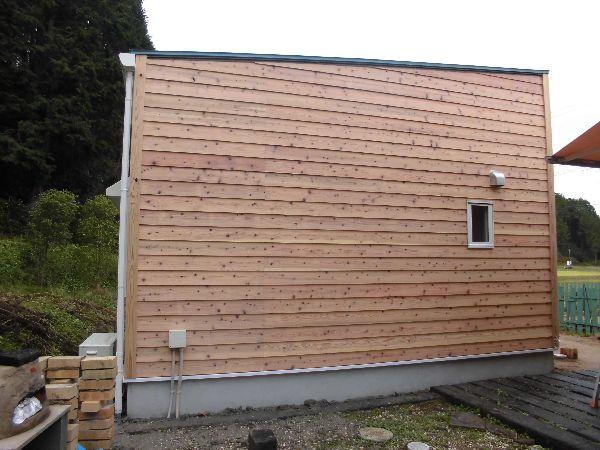杉板に木材保護塗料をDIYで塗られました