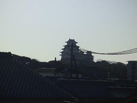 ロフトから姫路城が見える家
