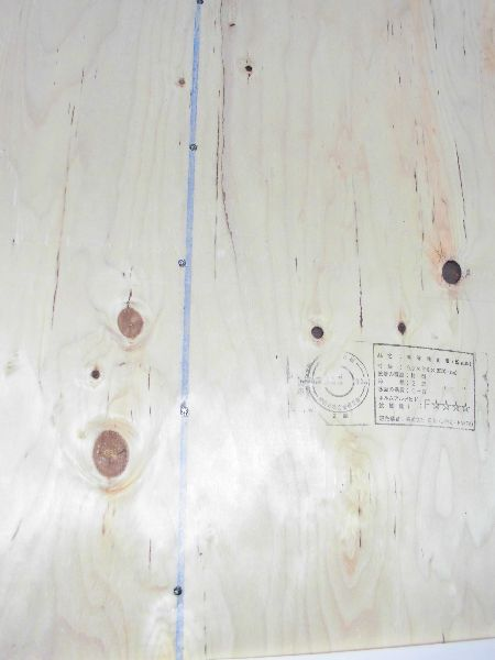 構造用合板の釘の種類間隔を検査