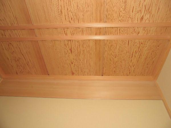床の間の竿縁天井