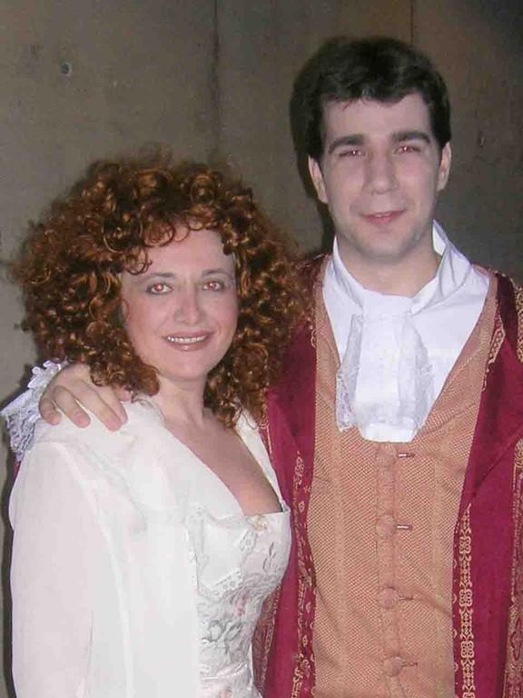 Con Isaac Galán en LAS BODAS DE FIGARO 2006