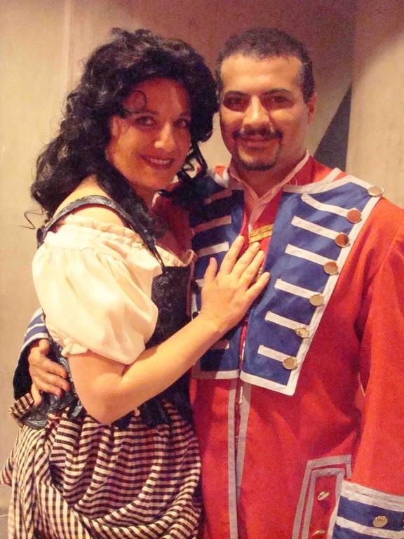 con el tenor Gastón Rivero en CARMEN 2008