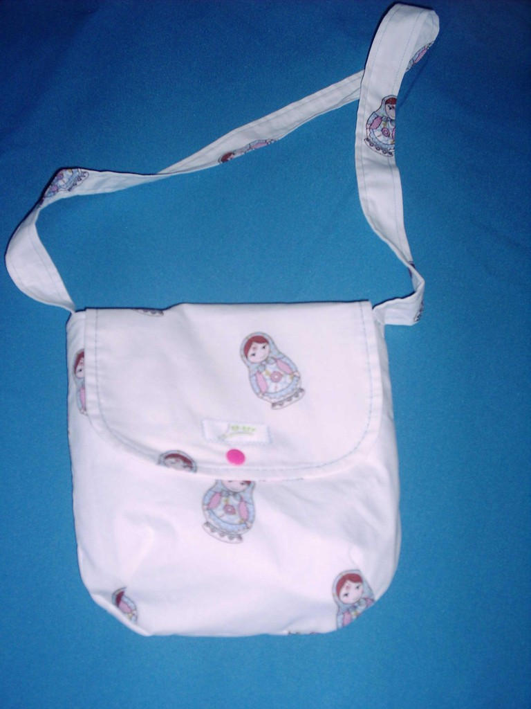 """FLAP BAG KIDS"" WHITE MATROSCHKA"