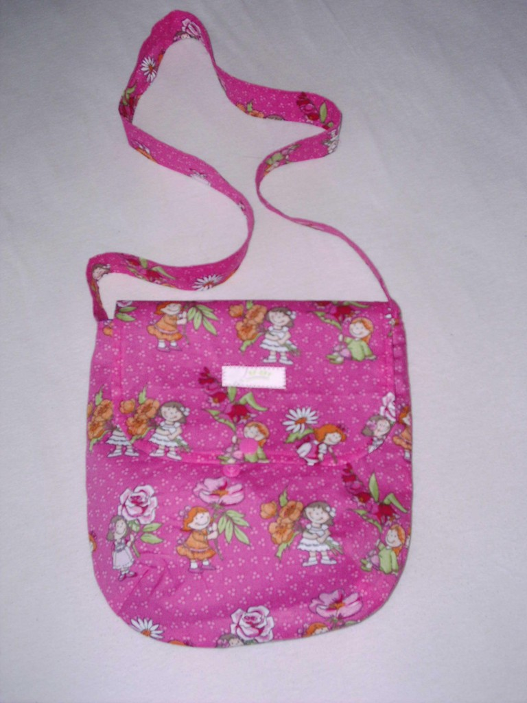 """FLAP BAG KIDS"" PINK FLOWERS"