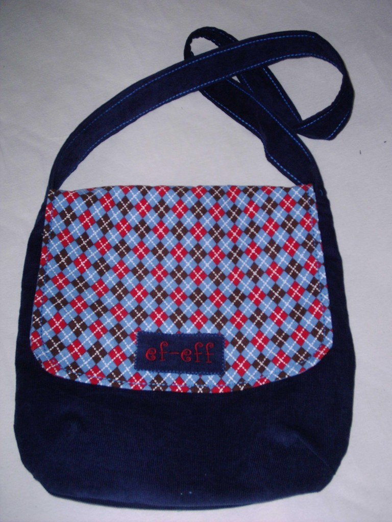 """FLAP BAG"" SQUARE N BLUE"