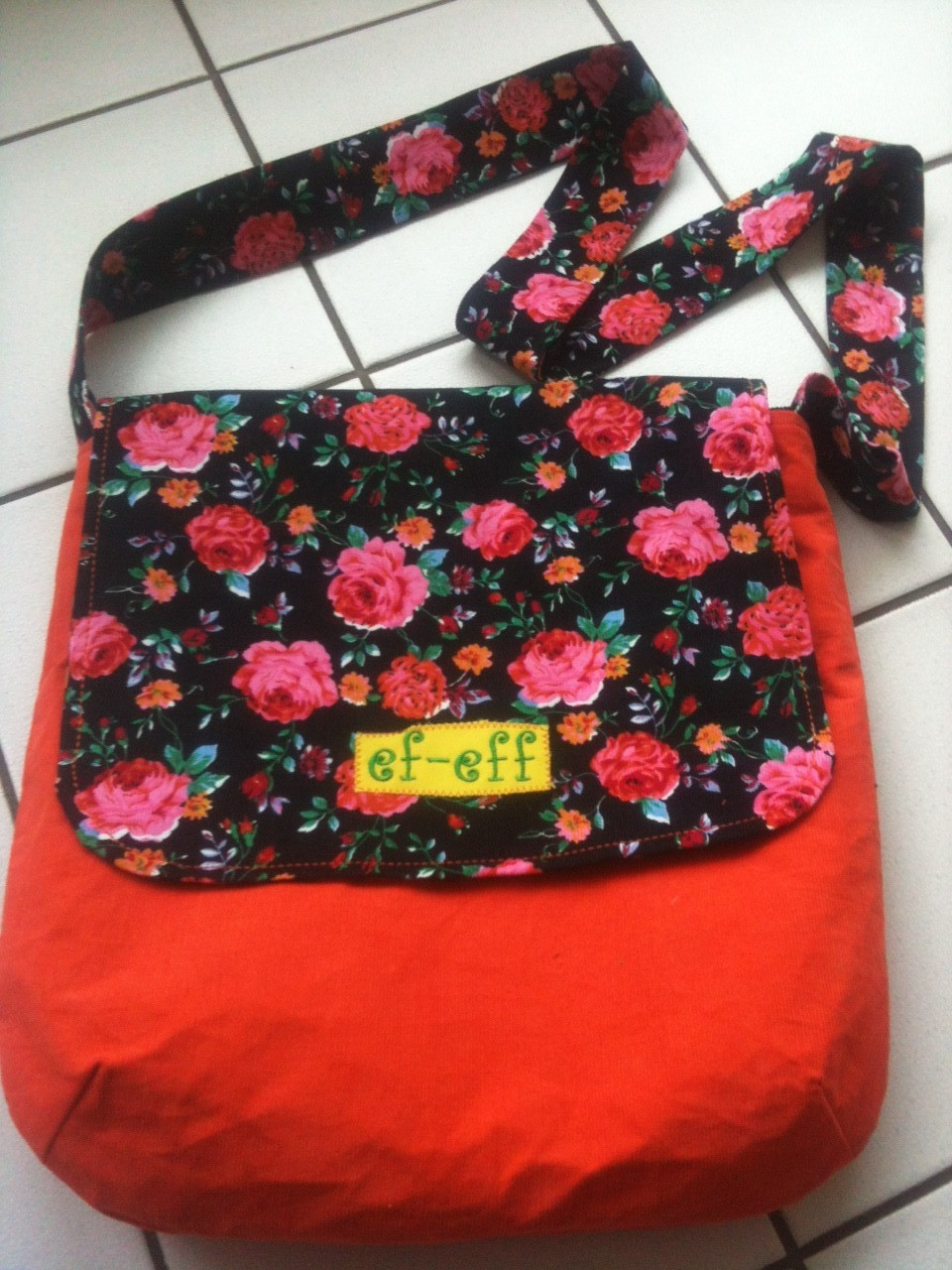 """FLAP BAG"" Rosework Orange"