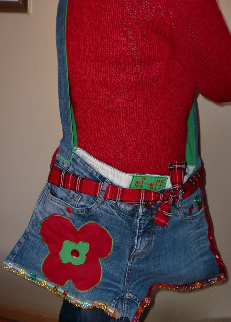 """PANTS BAG"" RED-GREEN"