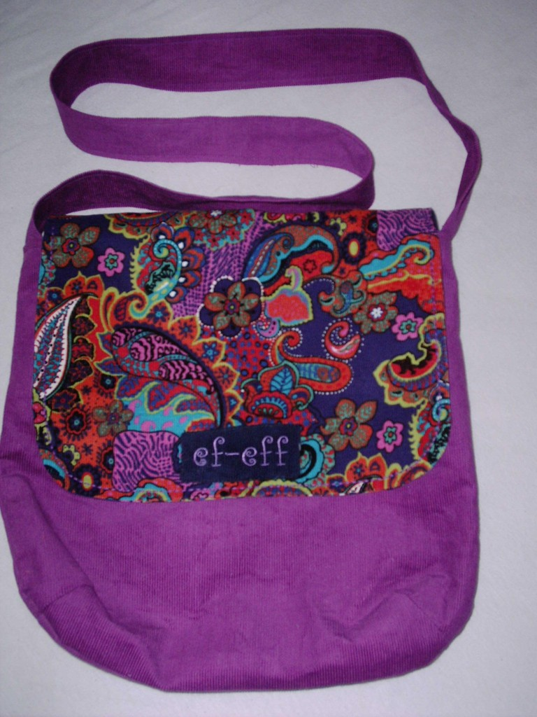 """FLAP BAG"" COLOURED N PURPLE"