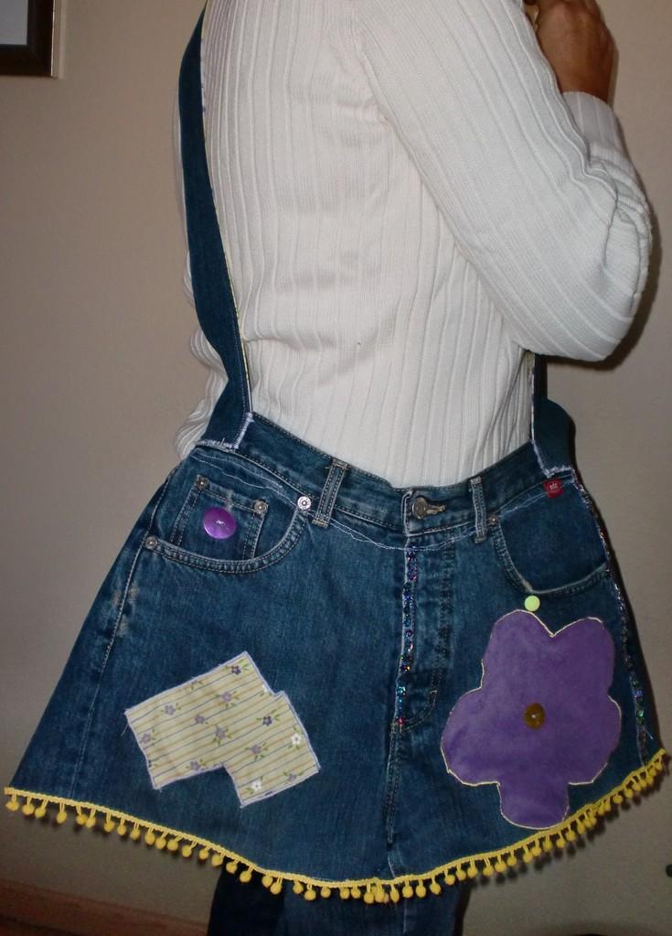 """PANTS BAG"" PURPLE-YELLOW"