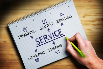Servicestrategie wird skizziert