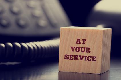 At your service - Zu Ihren Diensten