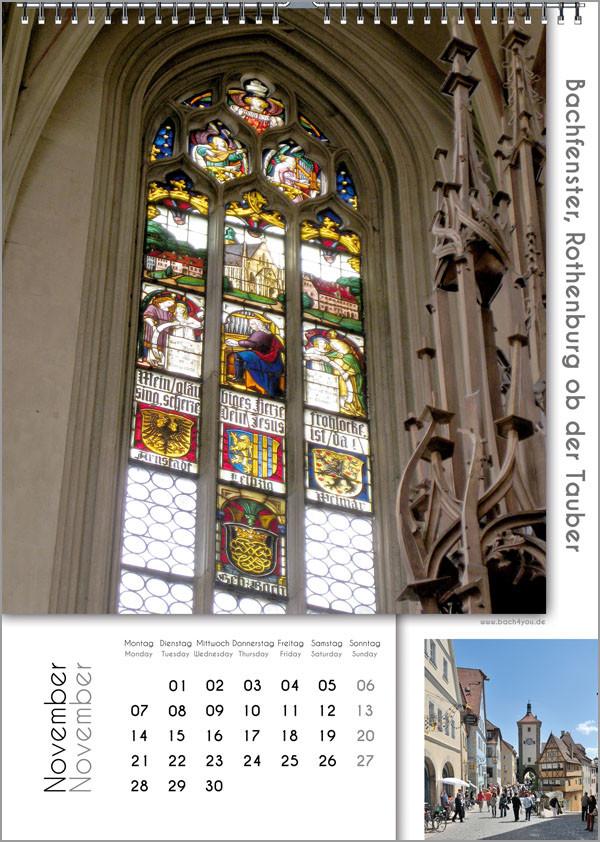 Musik-Geschenk Bach-Kalender 67 im November.