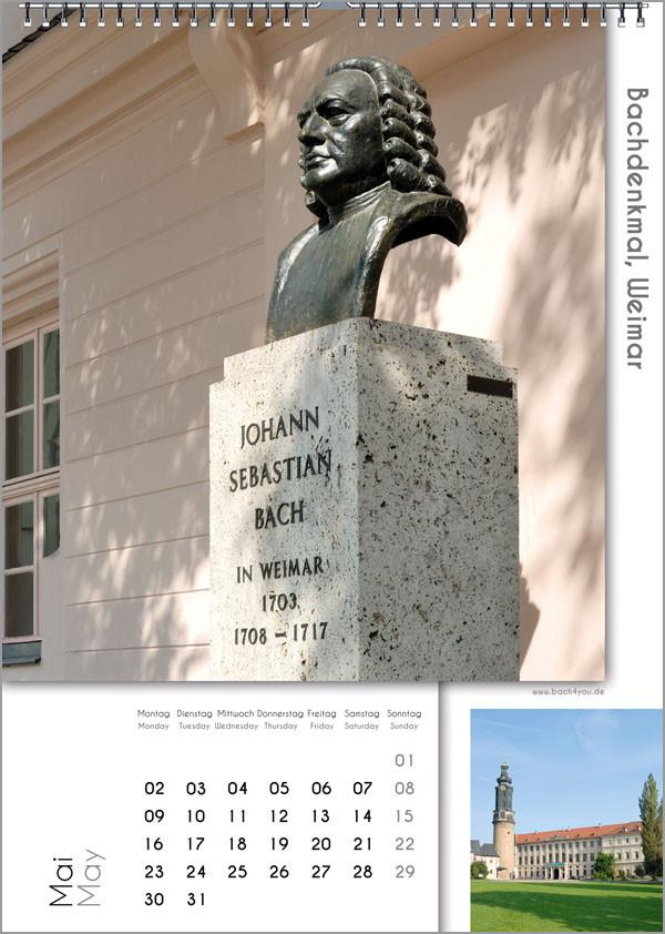 Musik-Geschenk Bach-Kalender 67 im Mai.