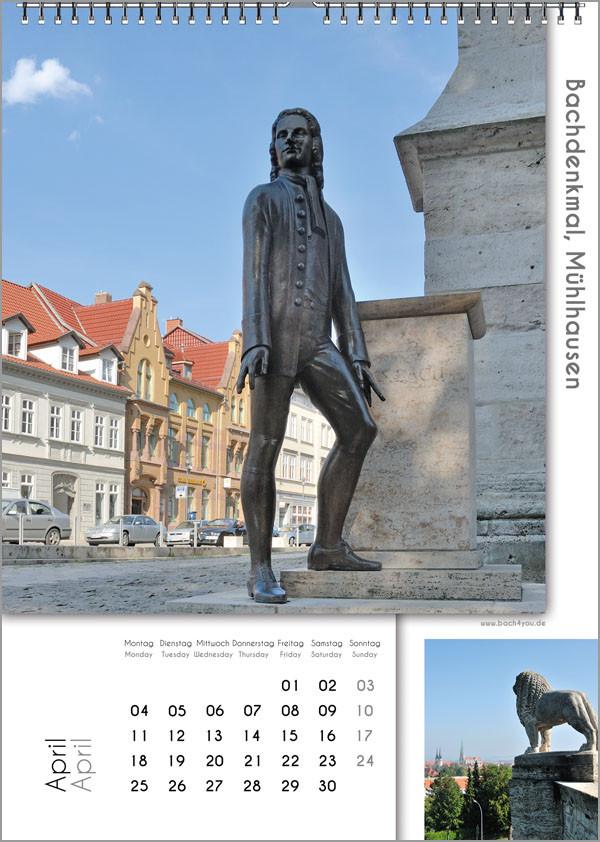 Musik-Geschenk Bach-Kalender 67 im April.