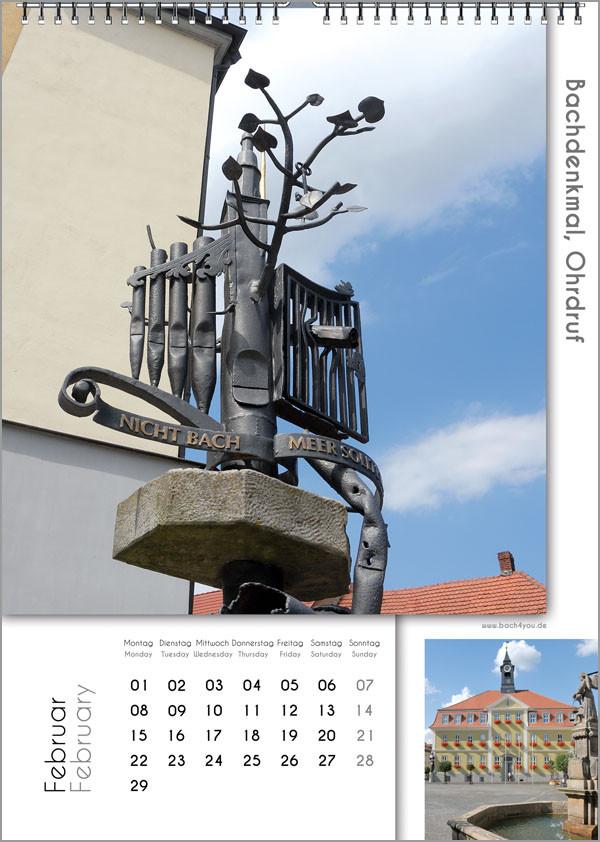 Musik-Geschenk Bach-Kalender 67 im Februar.