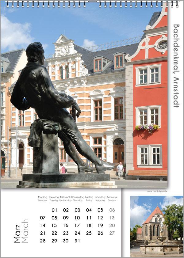 Musik-Geschenk Bach-Kalender 67 im März.