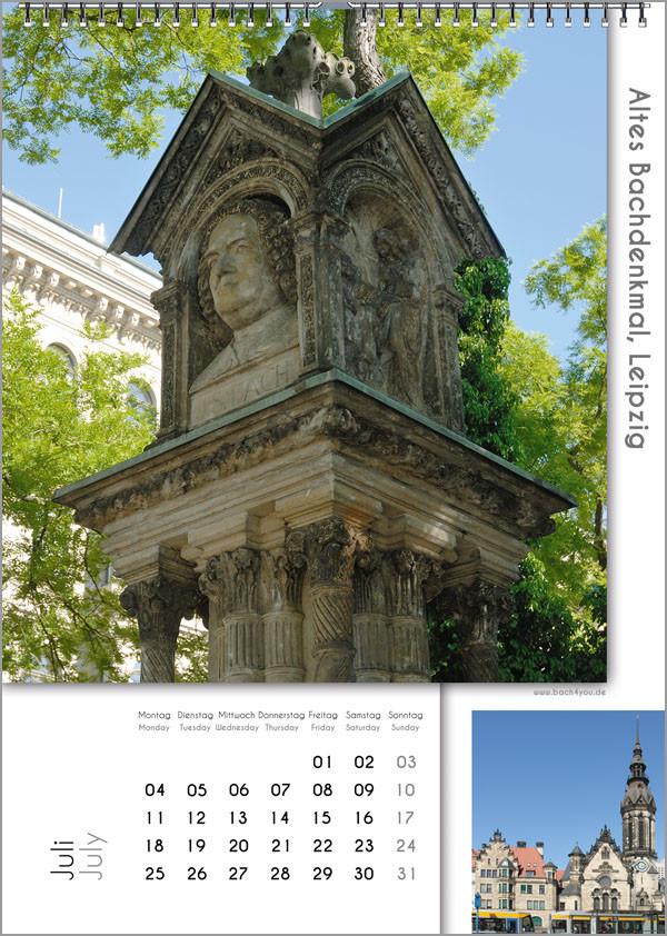 Musik-Geschenk Bach-Kalender 67 im Juli.