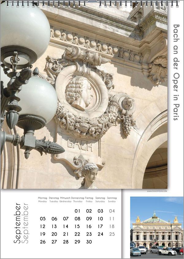 Musik-Geschenk Bach-Kalender 67 im September.