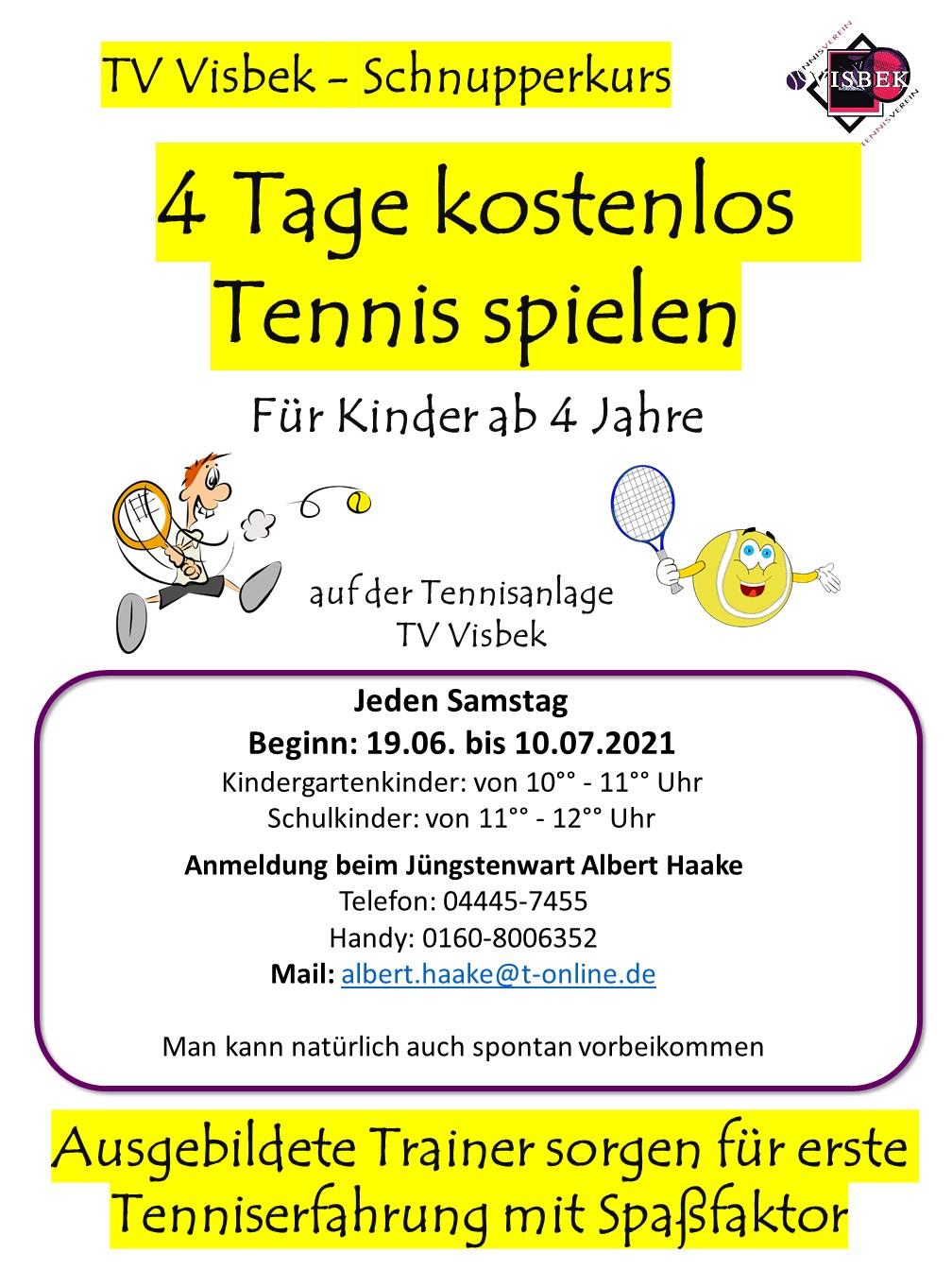 Tennis-Schnupperwochen für Kinder und Jugendliche