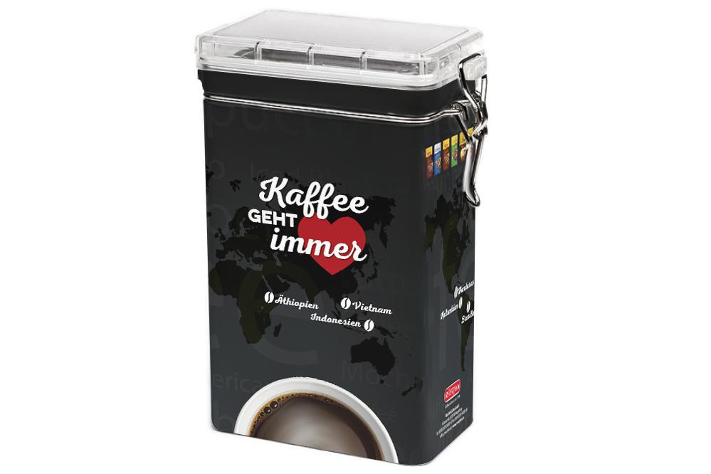 Gestaltung einer Kaffeedose für Röstfein