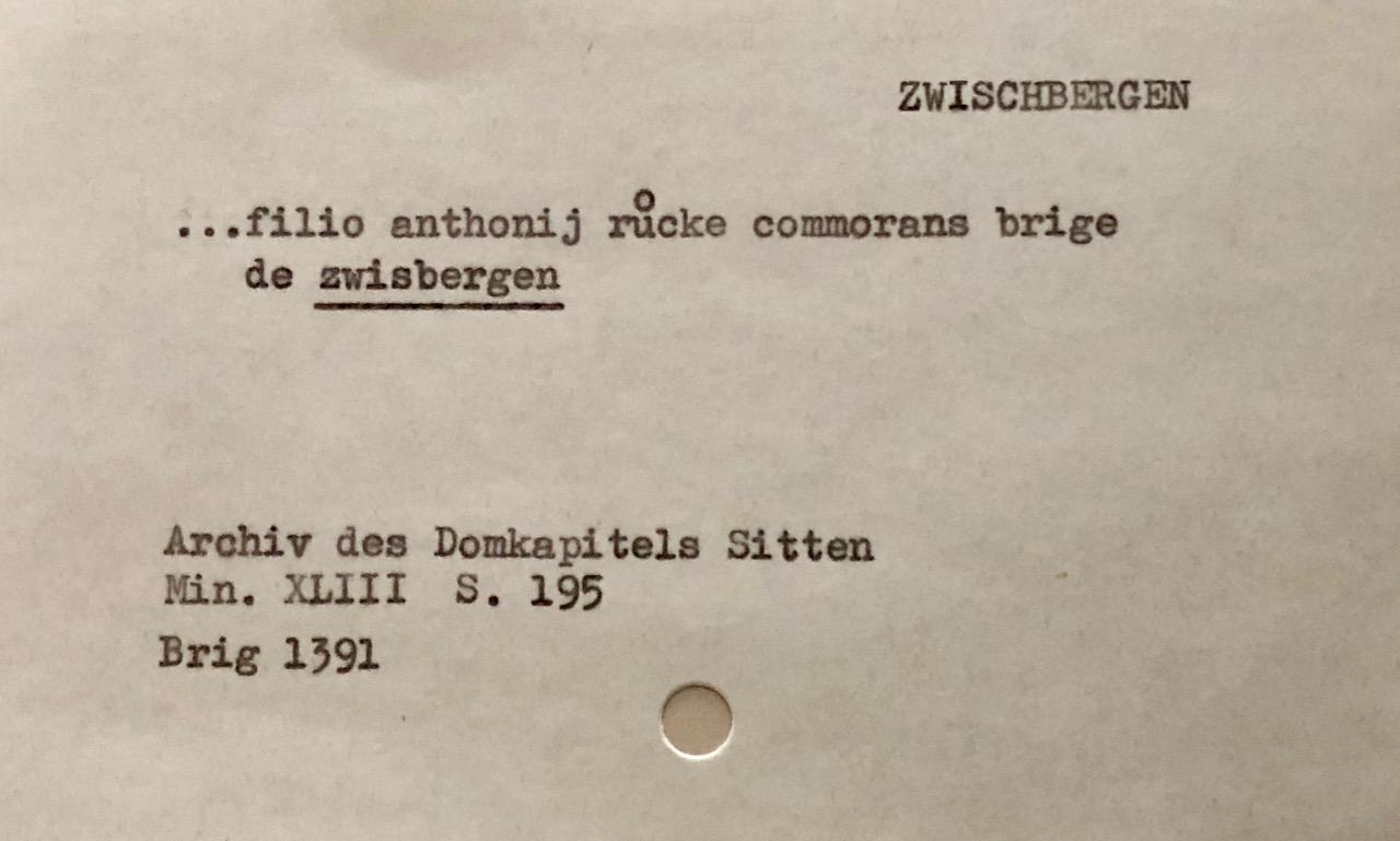 historischer Beleg (ca. 82'000 Karteikarten)