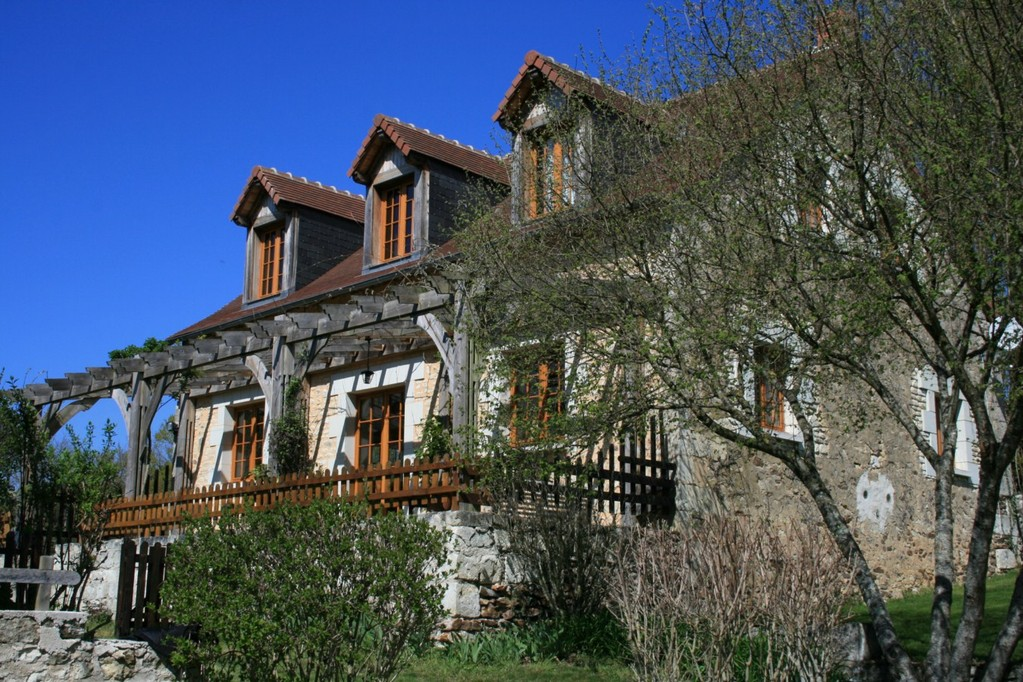 The Gîte in rays of the springtime sunlight