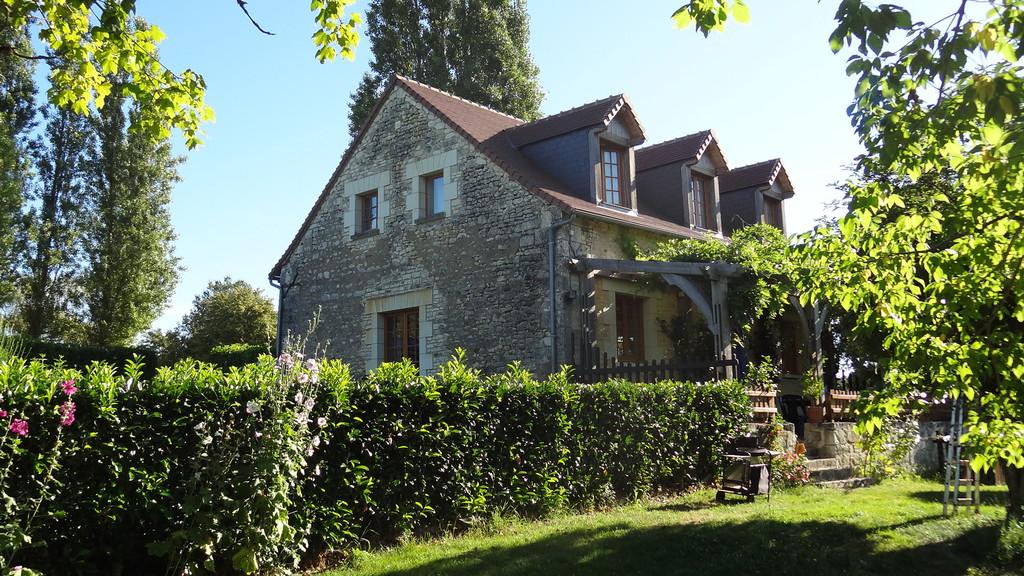 Haus von der Gartenseite aus