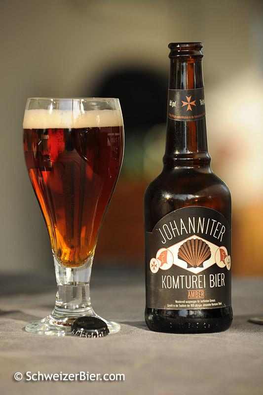 Komturei - Johanniter Amber - Gebraut bei der Brauerei Locher