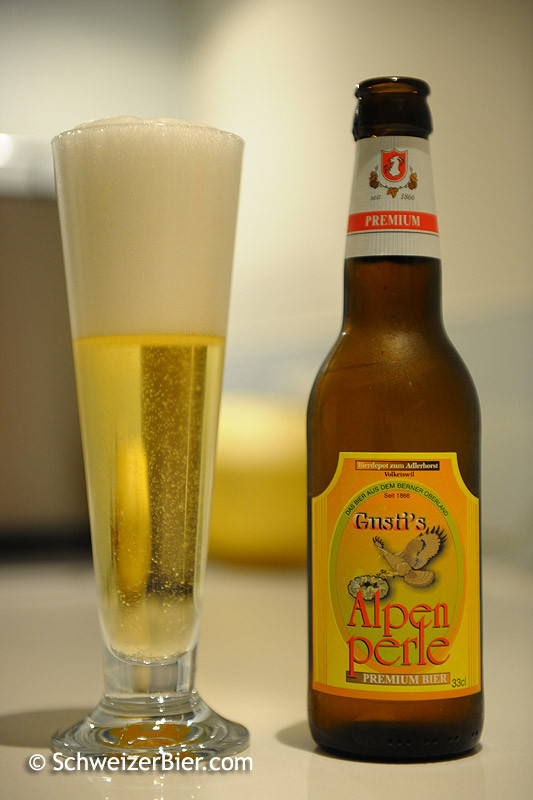 Gusti's Alpenperle - Premium Bier - Bierdepot zum Adlerhorst