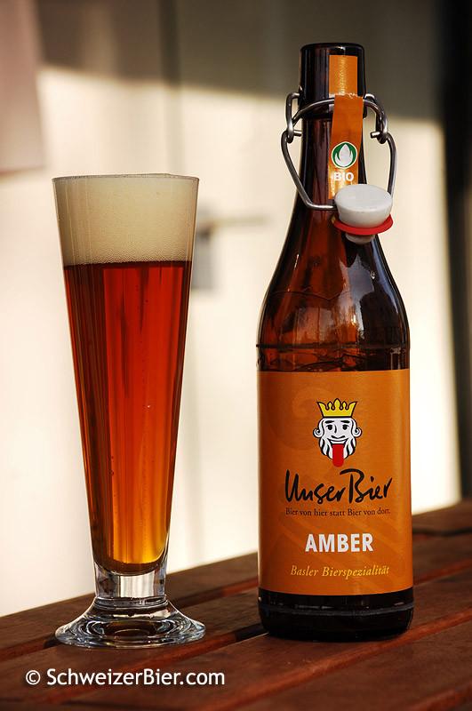 Unser Bier - Amber mit neuer Etikette