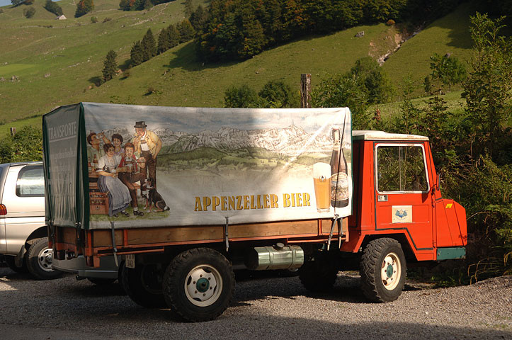 Appenzeller Liefer Lastwagen