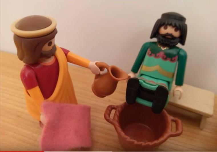 La Cène - Jésus lave les pieds de ses disciples