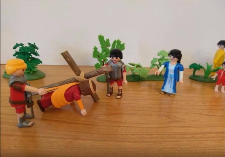 Le chemin de croix - Jésus tombe
