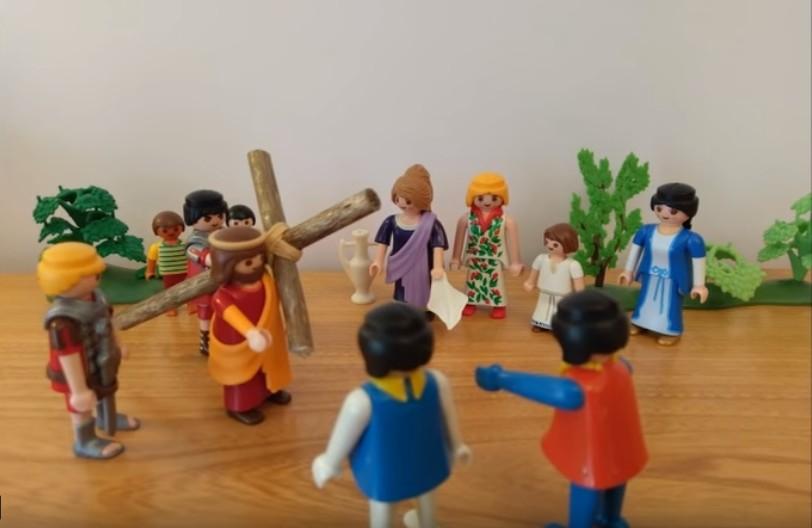 La condamnation - Jésus est condamné à porter sa croix