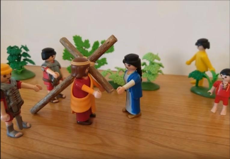 Le chemin de croix - Jésus rencontre sa mère