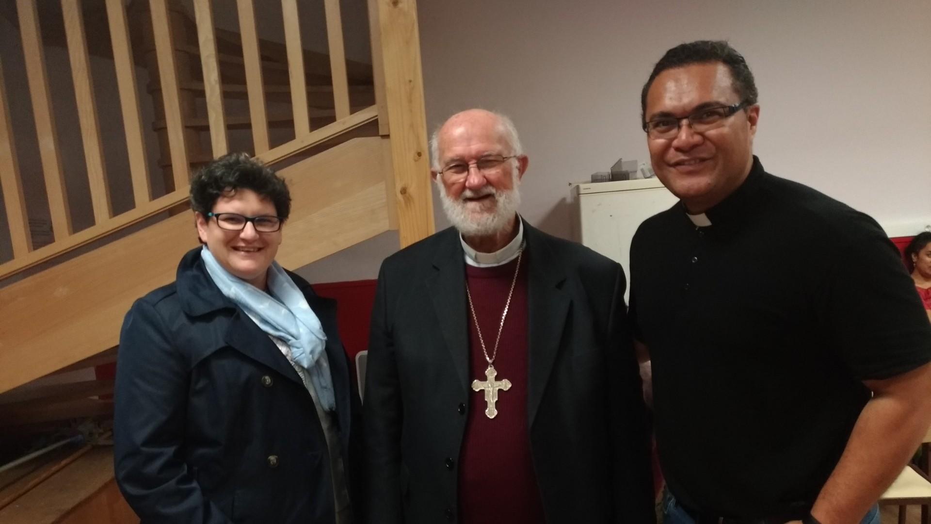 Estelle - Mgr Ghislain de Rasily. Évêque de Wallis et futune - Père Simonet, vicaire de Revel, originaire de Wallis et Futuna qui a prêté sa voix pour le spectacle. (c) RE